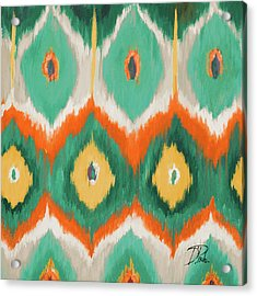 Tropical Ikat II Acrylic Print by Patricia Pinto
