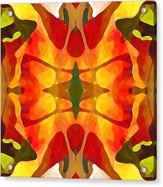 Tropical Leaf Pattern5 Acrylic Print by Amy Vangsgard