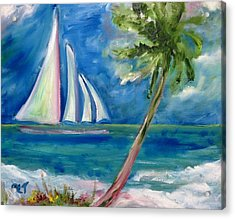 Tropical Sails Acrylic Print by Patricia Taylor