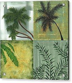 Tropical Splash Square By Madart Acrylic Print by Megan Duncanson