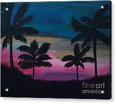 Tropical Sunset Acrylic Print by Krystal Jost