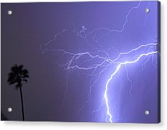 Tropical Thunderstorm Night  Acrylic Print by James BO  Insogna