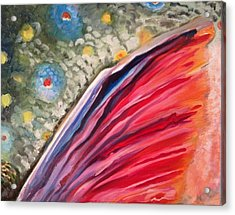 Trout Fin 1 Acrylic Print by Michelle Grove