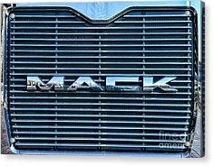 Truck - The Mack Grill Acrylic Print by Paul Ward