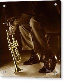 Trumpet 2 Acrylic Print by Tony Cordoza
