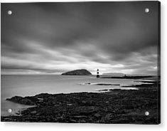 Trwyn Du Lighthouse 1 Acrylic Print by Dave Bowman