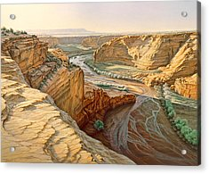 Tsegi Overlook - Canyon De Chelly Acrylic Print by Paul Krapf