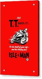 Tt Races Phone Case Acrylic Print by Mark Rogan