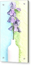 Triple Irises Acrylic Print by Marsha Heiken