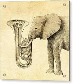 Tuba Acrylic Print by Eric Fan