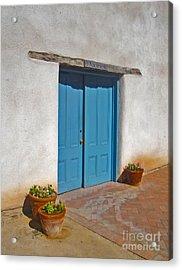 Tucson Arizona Blue Door Acrylic Print by Gregory Dyer