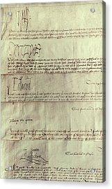 Tudor Monarchs Acrylic Print by Granger