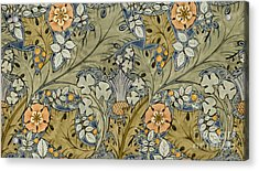 Tudor Roses Thistles And Shamrock Acrylic Print by Voysey