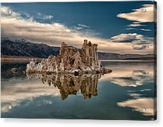 Tufa Reflections Acrylic Print by Cat Connor