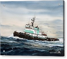 Tugboat Island Champion Acrylic Print by James Williamson