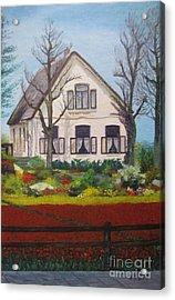 Tulip Cottage Acrylic Print by Martin Howard