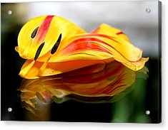 Tulip Reassembled Acrylic Print by  Andrea Lazar