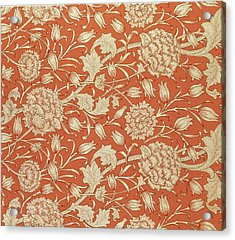 Tulip Wallpaper Design Acrylic Print by William Morris
