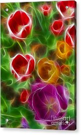 Tulips-6944-fractal Acrylic Print by Gary Gingrich Galleries