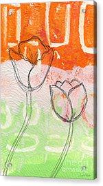 Tulips Acrylic Print by Linda Woods