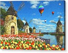 Tulips Of Amsterdam Acrylic Print by Dominic Davison