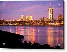 Tulsa Oklahoma - University Tower View Acrylic Print by Gregory Ballos