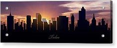 Tulsa Sunset Acrylic Print by Aged Pixel