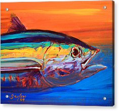 Tuna Portrait Acrylic Print by Savlen Art