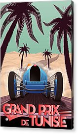 Tunisia Grand Prix 1933 Acrylic Print by Georgia Fowler