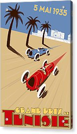 Tunisia Grand Prix 1935 Acrylic Print by Georgia Fowler
