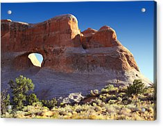 Tunnel Arch - Arches National Park Acrylic Print by Mike McGlothlen