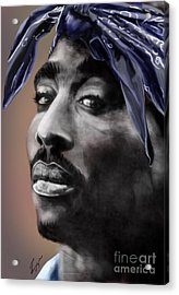 Tupac - The Tip Of The Iceberg  Acrylic Print by Reggie Duffie