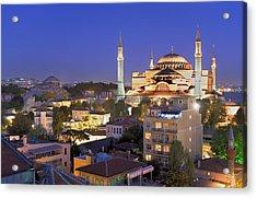 Turkey. Istanbul. Hagia Sophia Basilica Acrylic Print by Everett