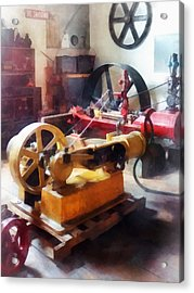 Turn Of The Century Machine Shop Acrylic Print by Susan Savad