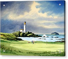 Turnberry Golf Course Scotland 10th Green Acrylic Print by Bill Holkham