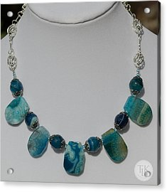 Turquoise And Sapphire Agate Necklace 3674 Acrylic Print by Teresa Mucha