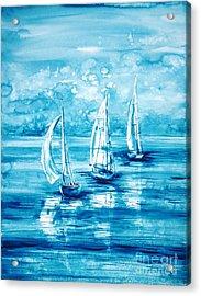 Turquoise Morning Acrylic Print by Zaira Dzhaubaeva