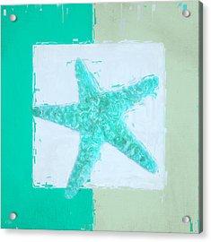 Turquoise Seashells Ix Acrylic Print by Lourry Legarde