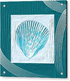 Turquoise Seashells Xxiii Acrylic Print by Lourry Legarde