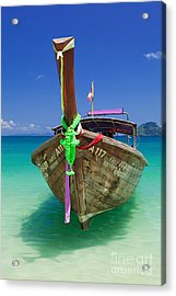 Turquoise Vibrance Acrylic Print by Pete Reynolds