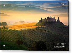 Tuscan Dawn Acrylic Print by Inge Johnsson