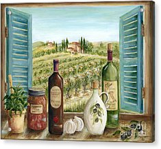 Tuscan Delights Acrylic Print by Marilyn Dunlap