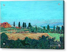 Tuscan Farm Acrylic Print by Allan P Friedlander