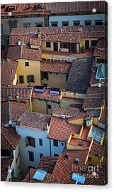 Tuscan Rooftops Acrylic Print by Inge Johnsson