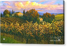Tuscan Sunset 36 X 60 - Sold Acrylic Print by Michael Swanson