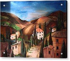 Tuscany Acrylic Print by Catherine Visconte