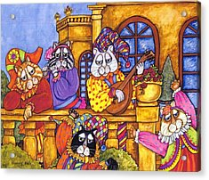 Fanciful Cat Acrylic Print featuring the painting Tuscany Cats by Sherry Dole