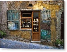 Tuscany Wine Shop Acrylic Print by Al Hurley