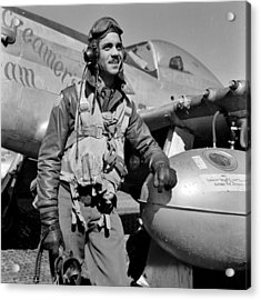 Tuskegee Airman Acrylic Print by Benjamin Yeager