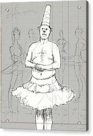 Tutu Man Acrylic Print by H James Hoff